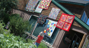 quilts outdoors