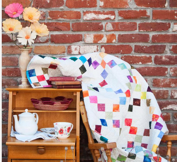Candy Squares Quilt Kit by Designer Nancy Smith