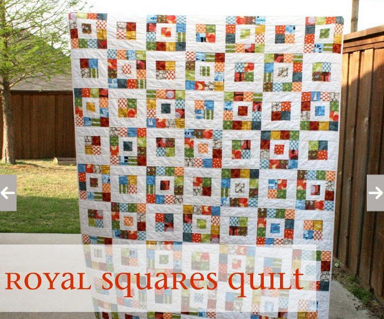 Fast and EAsy Scrap Quilt – Royal Squares Quilt Pattern