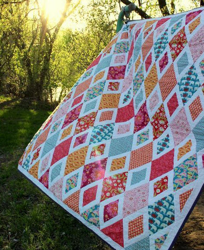 10 Diamond Quilt Patterns for Beginners – Make one of these Easy ... : diamond quilts - Adamdwight.com