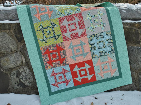 9 Simple Patchwork Churn Dash Quilts