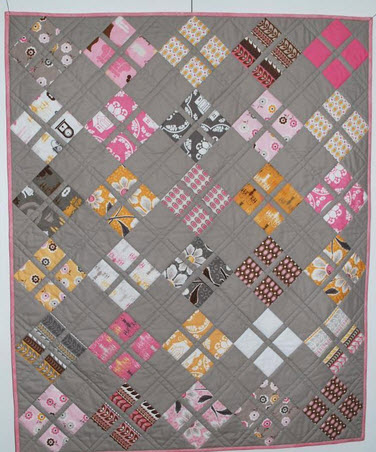 baby quilt pattern quot baby quot made with moda charm pack