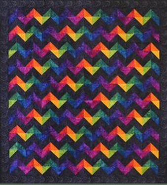Rave Wave Quilt with Stunning Hand-Dyed Fabrics