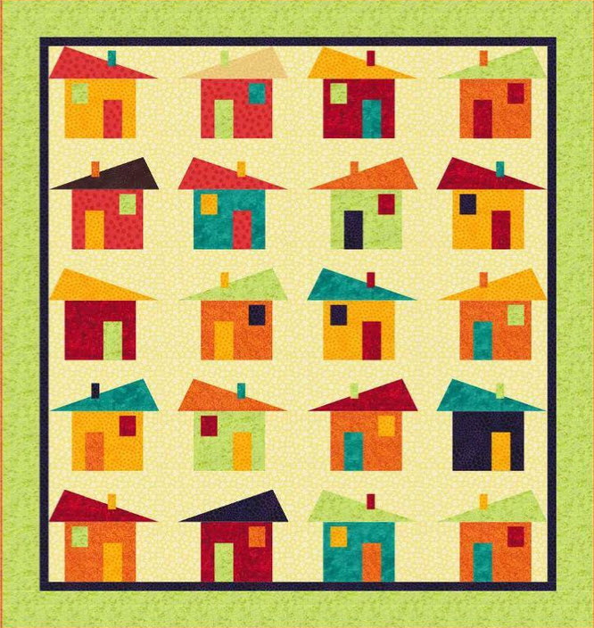 10 House Quilt Blocks Too Adorable to Pass Up!
