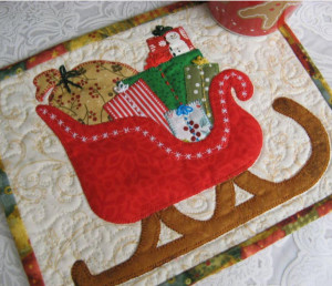 sleigh mug rug