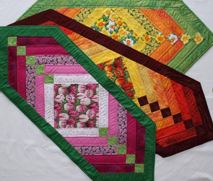 12 Quilted Table Runners – Make One This Weekend!