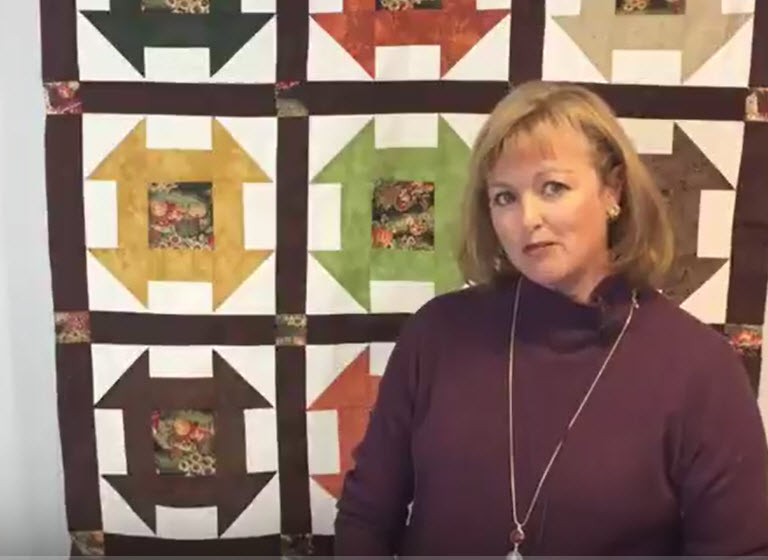 Easy Churn Dash Quilt Tutorial Using Quilters Magic Wand