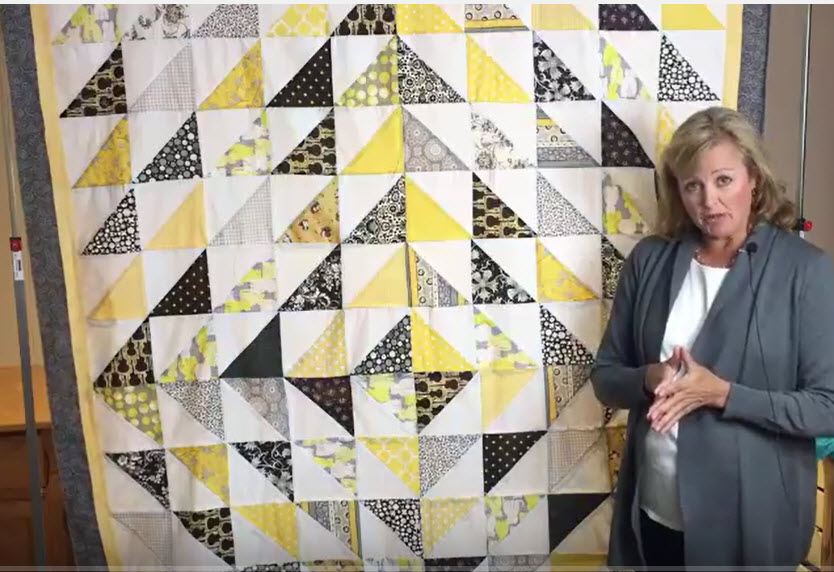 Honeycomb Quilt Tutorial Using Half-Square Triangles – Triangles-on-a-Roll