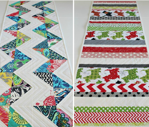 12 Quilted Table Runners – Great Gifts – Make One This Weekend